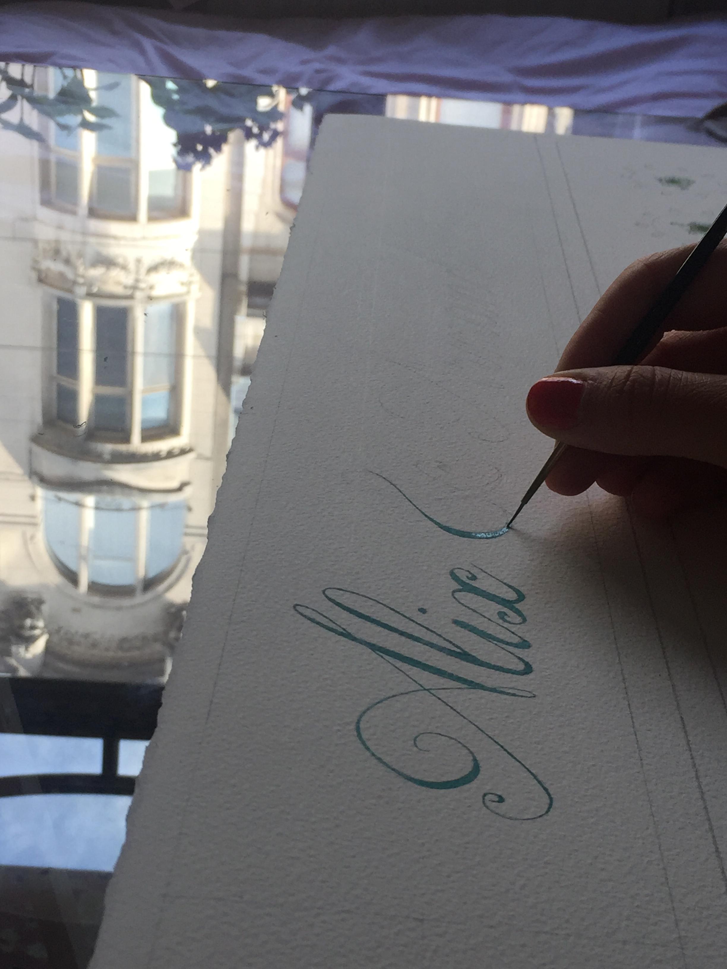 Calligraphie peinte
