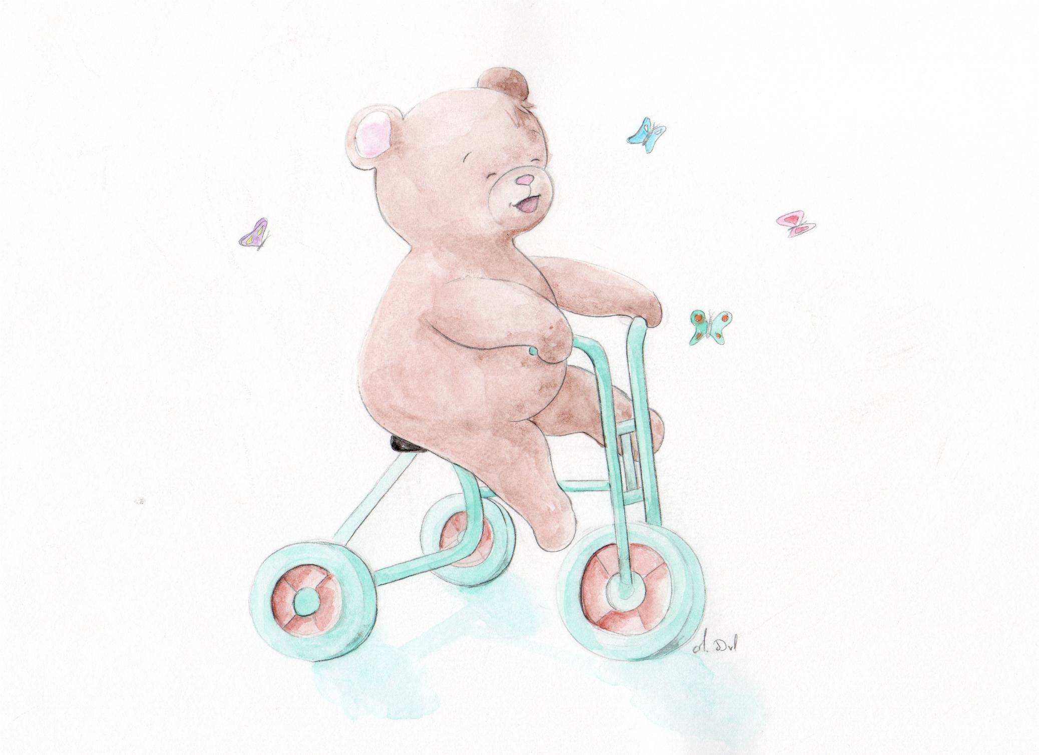 ourson à vélo