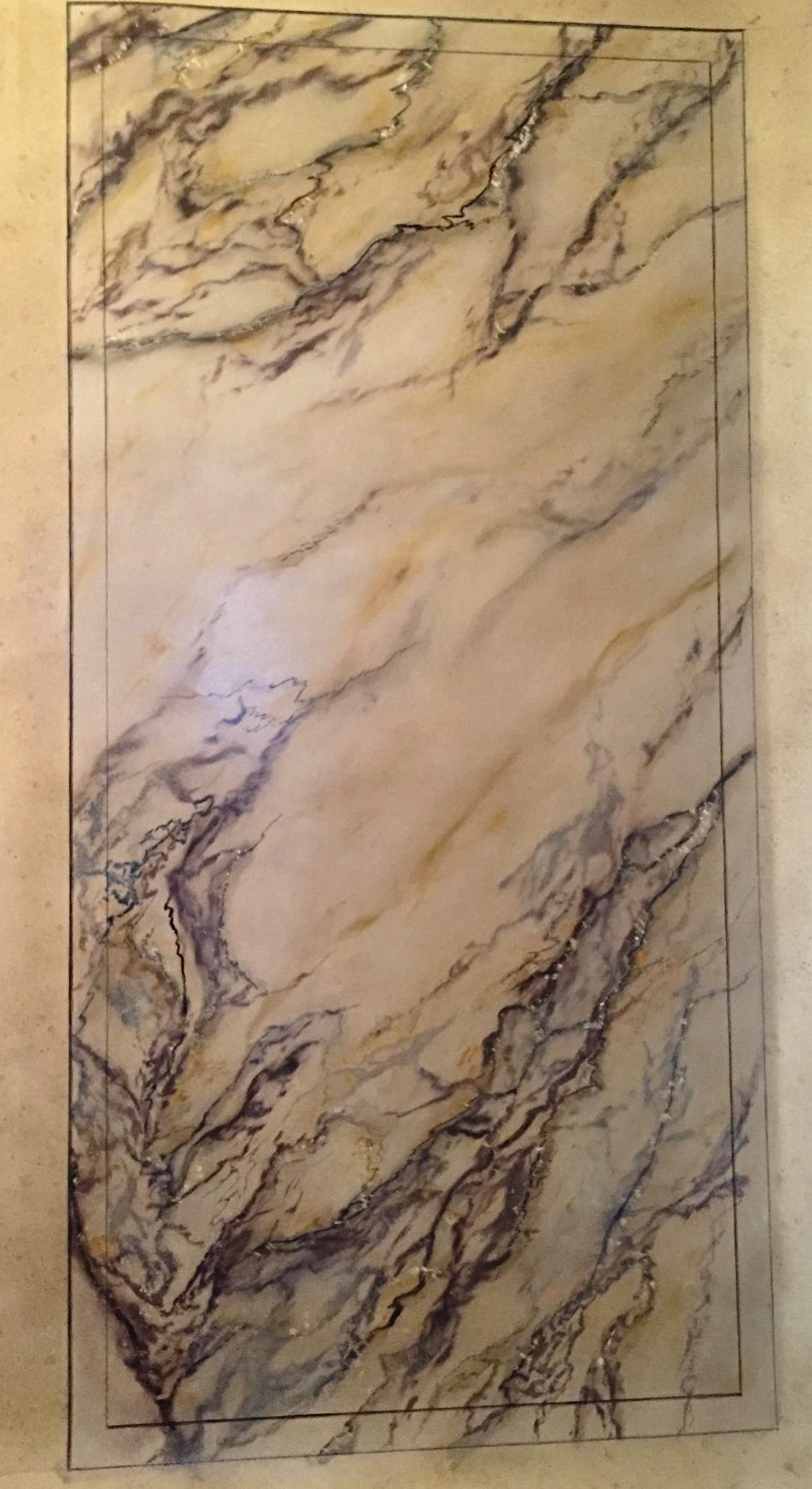 Imitation de marbre Paonazzo