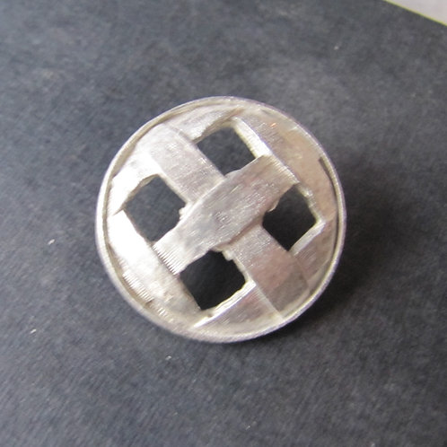 Open Cross Hatch Button