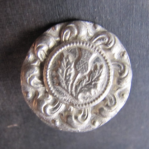 Thistle Swirl Button
