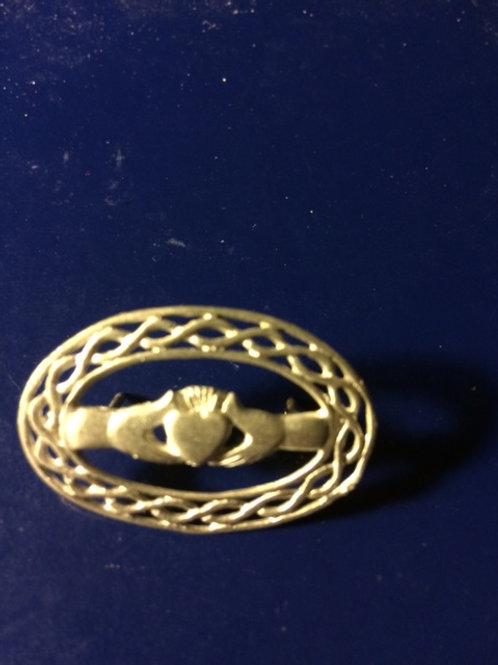 Claddagh Circular Knot Pin
