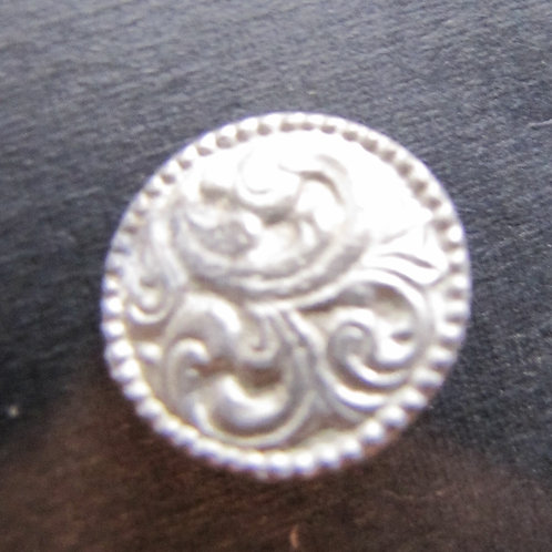 French Feather Button