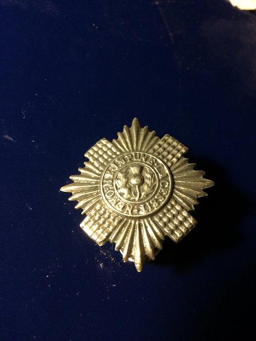 Thistle Sheild Military Pin