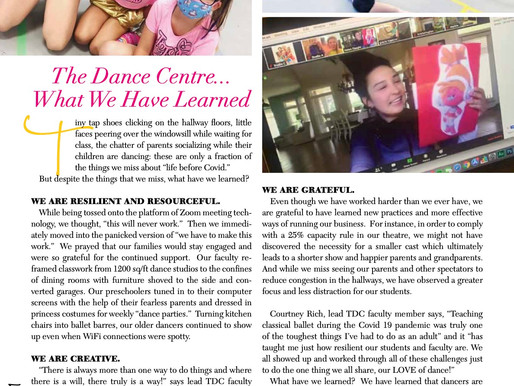 The Dance Centre... What We Have Learned
