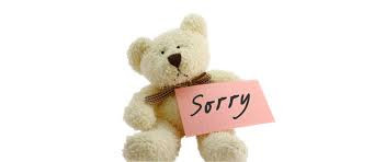 """It's Never Too Late to Say """"I'm Sorry"""""""
