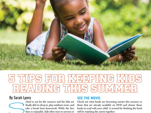 5 Tips For Keeping Kids Reading This Summer