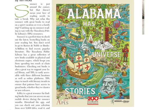 Relax and Read This Summer With Tuscaloosa Public Library