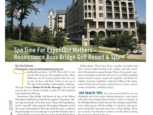 Are We There Yet: Spa Time for Expectant Mothers - Renaissance Ross Bridge Golf Resort & Spa