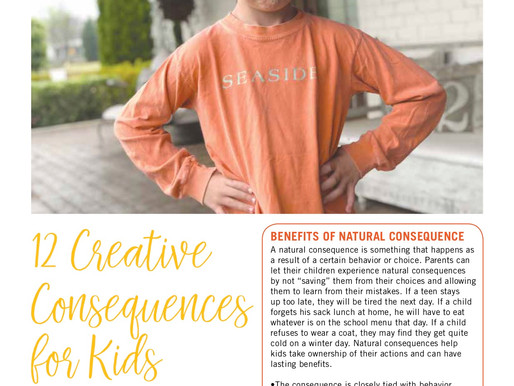 12 Creative Consequences for Kids