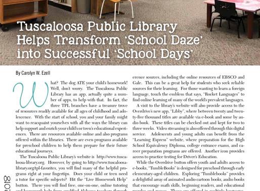 "Tuscaloosa Public Library Helps Transform ""School Daze"" into Successful ""School Days"""