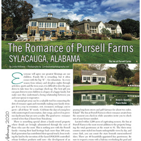 Escape For A Date: The Romance of Pursell Farms, Sylacauga, AL