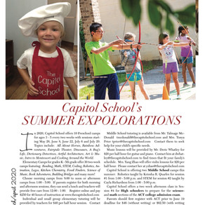 Capitol School's Summer Explorations and Hybrid High School