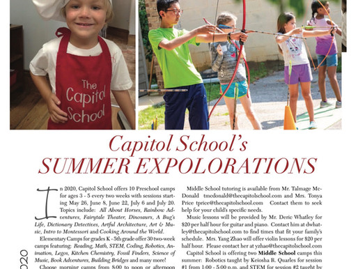 Capitol School's Summer Explorations and Hybrid High School
