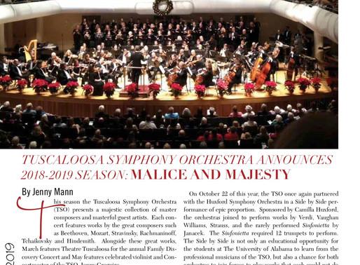 Tuscaloosa Symphony Orchestra Announces 2018-2019 Season: Malice and Majesty