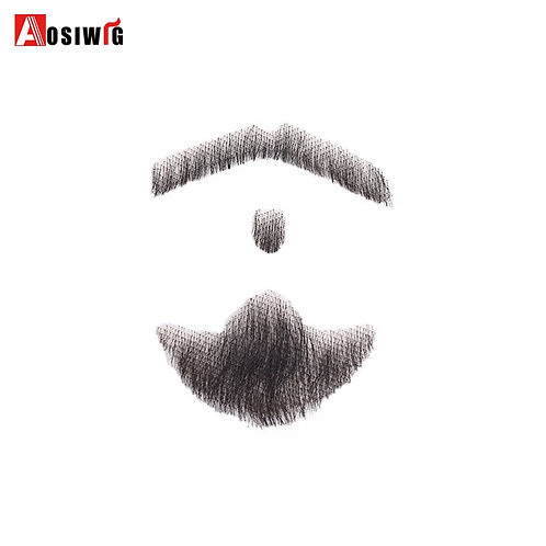 Lace Beard/Mustache Makeup for Film/ Television/ Theater/ Cosplay