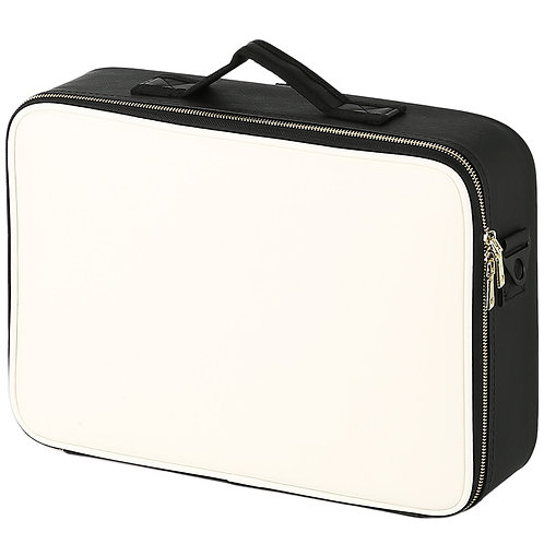 Professional Leather Clapboard Cosmetic Bag Make Up Soft Sided