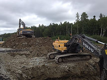 Excavation, Heavy Equipment Rental, grading, earthwork, road rehabilitation, busting rock, culvert replacement