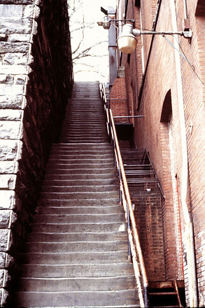 On location at the infamous steps seen in THE EXORCIST - thedigitalcinema.info