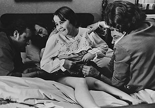 Special effects tech, Marcel Vercoutere, mades adjustments to the harness on Linda Blair while filming THE EXORCIST. thedigitalcinema.info