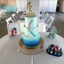 A cake fit for a royal princess mermaid