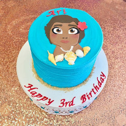 Baby Moana cake! #goldiesgoodiesbakery #moana #babymoana #disneyprincess #birthdaycake #cake #custom