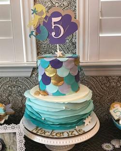 Mermaid cuteness for Mackenzie's 5th birthday! ._._. ._