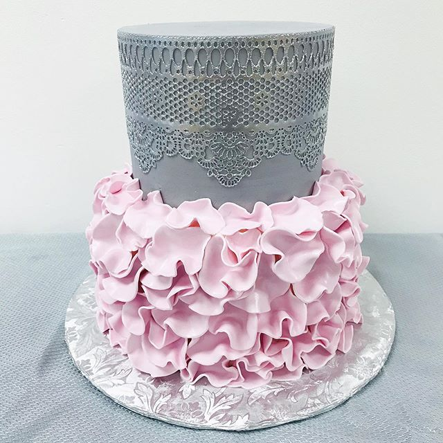 Love this ruffles and lace baby shower c