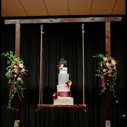 Here she is! Our 5 tier, 3 foot tall wed