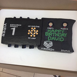 Awesome batter manager unit complete created by David! We hope you enjoy eating it too! 😂🎂 #goldie