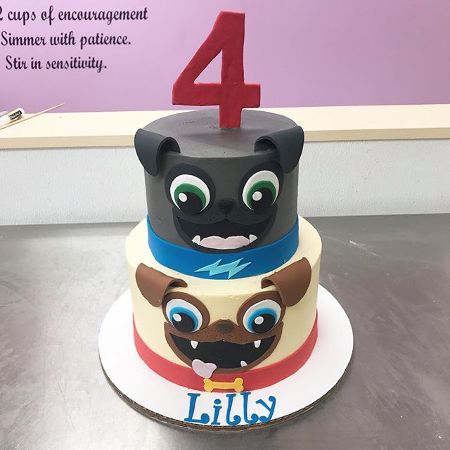 Puppy dog pals, Rolly and Bingo, cake! ._._._._._