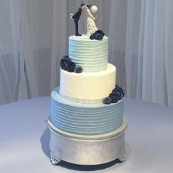 Something Blue 💙 #goldiesgoodiesbakery #weddingcake #wedding #somethingblue #buttercream #roses #ca