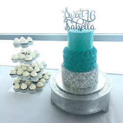 We LOVED creating Isabella's Sweet 16 cake and cupcakes! ._._._._._._._