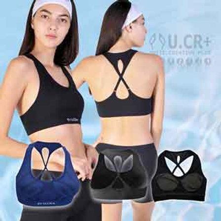 【U.CR+】女後背交叉運動背心(Back cross Sports Bra)   敏感肌適用  膠原蛋白 魚鱗回收