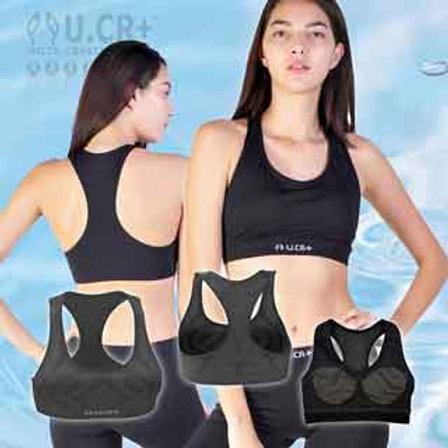 【U.CR+】女寬版運動背心(Width Sports Bra)   敏感肌適用 膠原蛋白 魚鱗回收