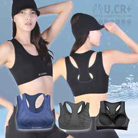 【U.CR+】女雙層運動背心( Double Sports Bra)   敏感肌適用  膠原蛋白 魚鱗回收