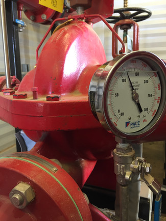 Fire Pump & Calibrated Gauge