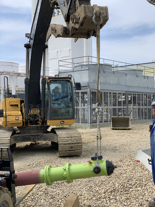 Civil Crew Installing New Hydrant