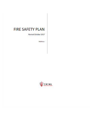 Total Fire Creates and Updates Fire Safety Plans and ERP's
