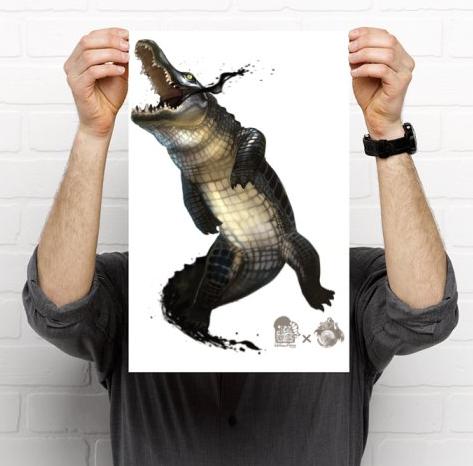 Ink Crocodile