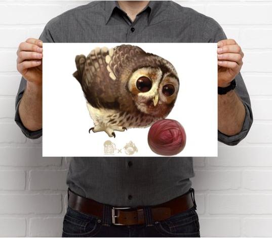 Owl with Yarn