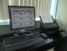 Fujitsu Xi-500 scanner workstation