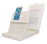 iPhone 6+ mounted in ScanJig stand