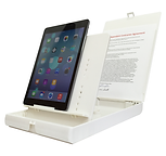 iPad mounted on ScanJig stand