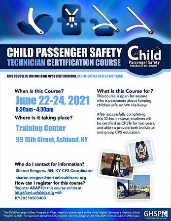 Ashland CPST Certification Course 6-2021