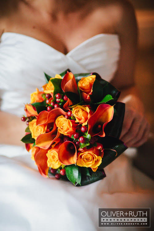 Orange Bridal Flowers