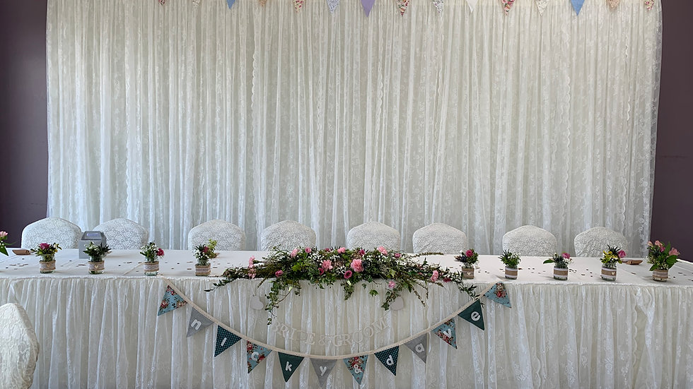 Ivory Lace Backdrop Package