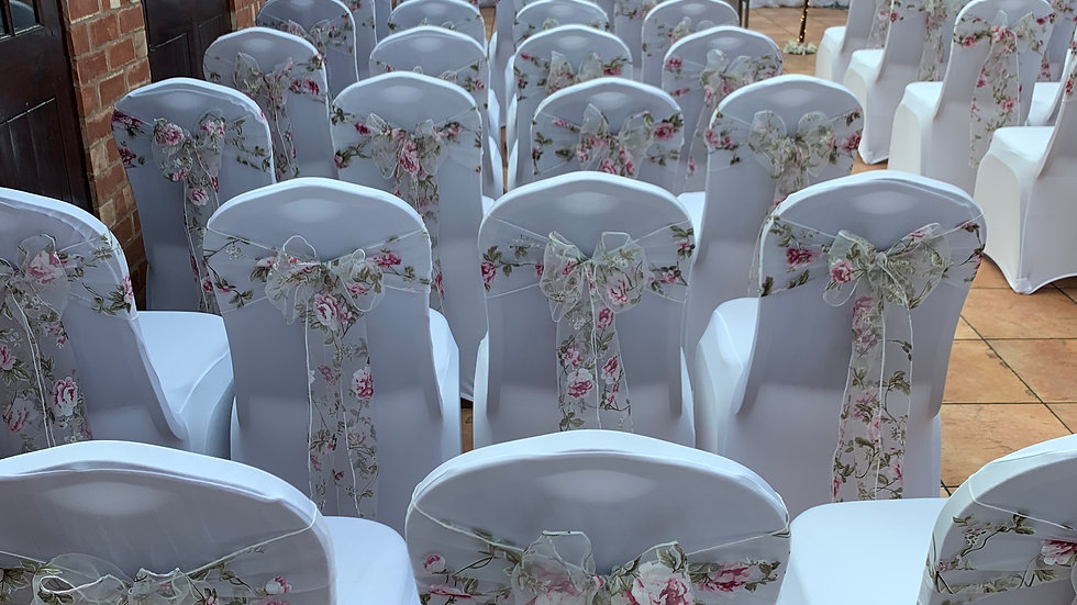 Chair Cover & Floral Sash