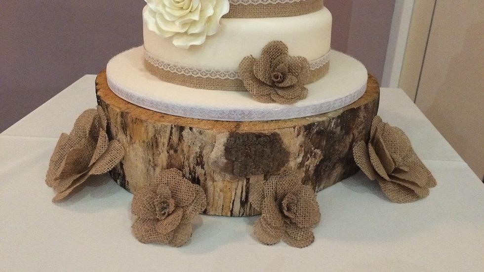 Log Cake Stand