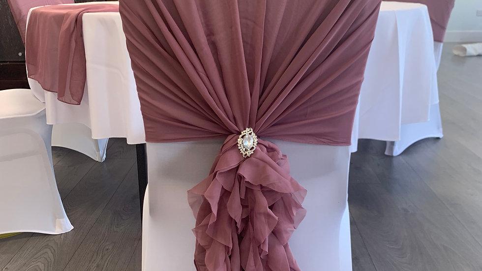 Chair Cover & Ruffle Hood